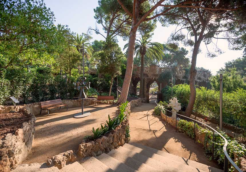 Vista parcial del jardín