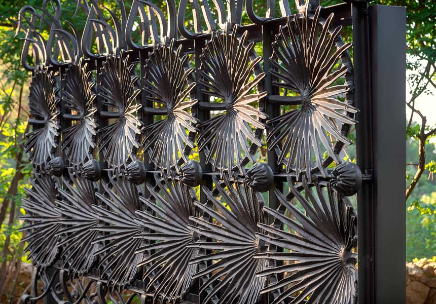 Part of the gate from Casa Vicens