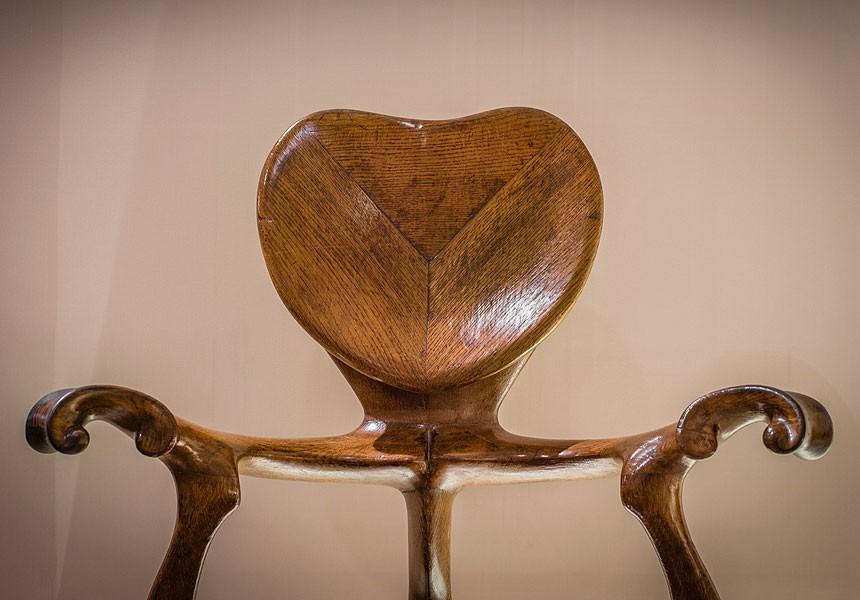 Cadira de braços dels despatxos dels baixos de la Casa Calvet